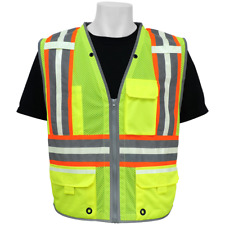 Safety Vest Class 2 Surveyor, Hi Vis & Photoluminescent, Size: 6XL , GLO-077-6XL