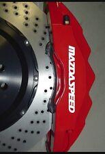 4x Mazda Speed Caliper High Temp Wiper blade stickers Silver Black Red decal