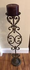 3 FT Decorative Metal Floor Candle Holder With Candle