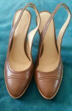 COUNTRY ROAD All Leather Tan Brown Platform Stilettos High Heels Size 39
