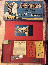 VINTAGE 1938 THE LONE RANGER HI HO SILVER GAME BOARD COMPLETE RARE SHIPS FAST