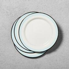 4pk Enamel Dinner Plate Black/Cream - Hearth & Hand with Magnolia, Beige