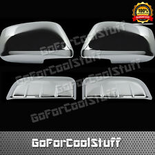 For Nissan 05-12 Pathfinder Chrome Rear Door Handle + Top Mirror Cover Combo Set