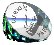 Rainbow Faceted Glass Paperweight Engraved Personalised ideal Trophy or Award