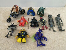 TMNT Figures Rare Bundle Turtles Beaver Atilla Lord Mozar Dojo Be Bop Bike