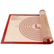 Non-Slip Silicone Pastry Mat Extra Large with Measurements for Baking Mat, Mat,
