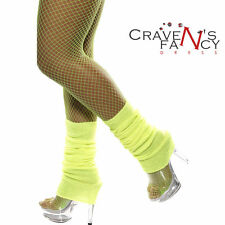 Leg Warmers Neon Yellow 80s Fancy Dress Party Costume Accessory Smiffys