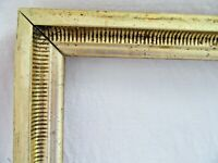 ANTIQUE FIT 10 X 12 GOLD GILT PICTURE FRAME ORNATE WOOD FINE ART COUNTRY STENCIL