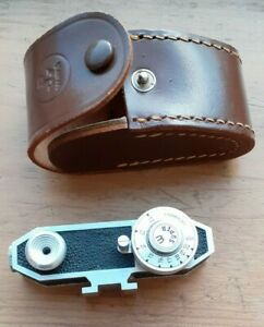 Vintage Watameter shoe mount rangefinder with original leather case
