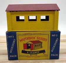 Vintage Matchbox Lesney Accessory Pack Metal Lock Up Garage #3 A-3 Original Box