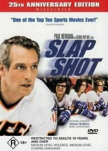 SLAP SHOT DVD 25TH ANN EDITION PAUL NEWMAN REGION 4 NEW AND SEALED