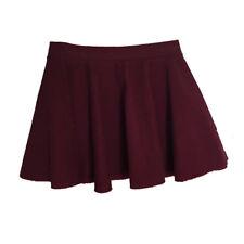 Ballet Dance Ice Roller Skating Cotton Lycra Full Circle Skirt Size 6 Burgundy