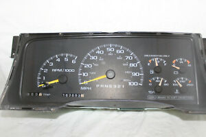 Speedometer Instrument Cluster 95-00 GM Chevy Pickup/Tahoe/Yukon 167,683 Miles