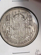 1947 ML S7 MAPLE LEAF CANADA 50 CENTS HALF DOLLAR, SCRATCHES