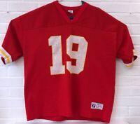Vintage NFL Kansas City Chiefs Joe Montana Football Jersey Mens XL Red READ!!!