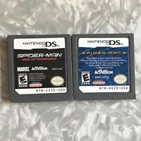 Spider-Man 2 & Web of Shadows Nintendo DS VG Authentic Cartridge Clean & Tested