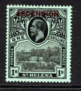 Ascension KGV 1922  1s. Black/Green SG9 LM/Mint