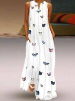 TOP Bohomian Boho langes Maxikleid Strand Sommer Kleid Abendkleid S - 5XL BC739