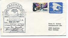 1977 Maumee Deep Freeze The Largest Ship USNS New York Polar Cover SIGNED