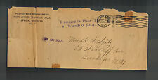 1930 USA Warren Ohio Crash Cover to  Brooklyn NY Official Post Office Envelope