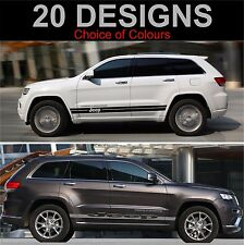 jeep cherokee side stripes decals stickers graphic side stripe both sides