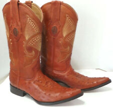 Authentic Ostrich Western Cowboy Boots Mens Size 9
