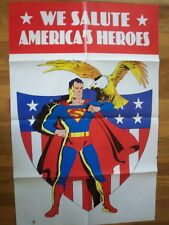 """We Salute Americas Heroes Promo Poster 2001 DC 22"""" x 34"""""""