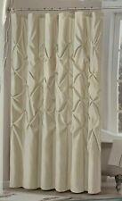 "Madison Park Laurel Ivory Pleated Tufted Fabric Shower Curtain 72"" x 72"""