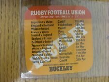 1976/1977 Rugby Union: Buckley Beer Mat - 'Make It A B-Line For A BUCKLEY'S', On