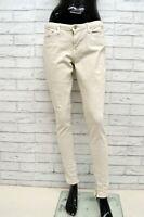 Jeans LEVIS Donna Taglia 31 Pantalone Slim Fit Skinny Beige Woman Elastico Pants