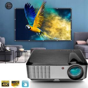 "5000 Lumen 1080P FULL HD Video Projector 4K 3D Home Theater Multimedia 300"" Max"