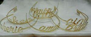 DESIGNER TIARA'S by AMBER SAKAI 16K GOLD PLATED - FESTIVE, HEN DO, BRIDES, PARTY