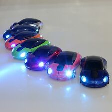 2017 2.4GHz Wireless 3D 1600DPI Cool Car Shape Light Usb Optical Mouse 7 Colors