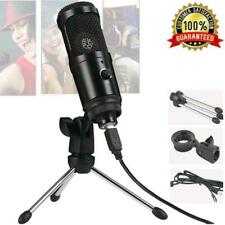 USB Condenser Microphone Cardioid Studio Audio Broadcast Sound Recording Tripod
