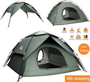 Pop Up Zelt 4-5Mann Wurfzelt zweischichtiges Kuppelzelt Winddicht Outdoor DE