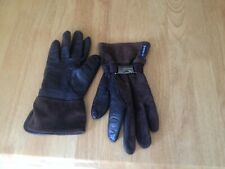 Armani Jeans Leather and Suede Brown Gloves