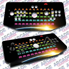 Space Invaders X Arcade Artwork Tankstick Overlay Graphic Sticker