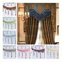 XHS /1m Curtain Sewing Tassel Fringe Trim Tassel Crystal bead Lace Accessory