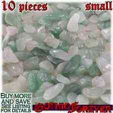 10 Small 10mm Combo Ship Tumbled Gem Stone Crystal Natural- Aventurine Green Mix