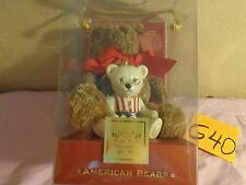 Lenox For The Holidays American Bears Plush + Ornament Set 100th Anniversary 24k