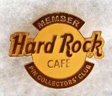 HARD ROCK CAFE HRCPCC PIN COLLECTORS CLUB MEMBER 2ND YEAR LOGO PIN # 12133