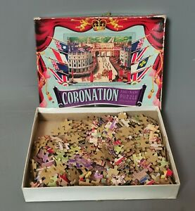 Vintage 1950s Waddingtons Royal Coronation jigsaw puzzle