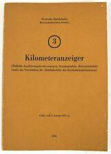 Kilometeranzeiger 3 Rbd Dresden Deutsche Reichsbahn gültig ab 1985