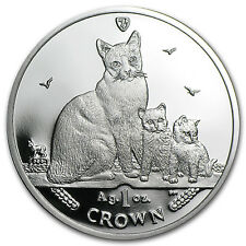 2014 Isle of Man 1 oz Silver Snowshoe Cat Proof - Sku #81063