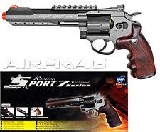 "WG WinGun 702B 11.5"" Metal Black Airsoft CO2 Revolver w  Shells+30 Day Warranty"