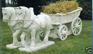Gartenfigur Pferdekutsche Made in Italy