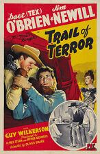 Trail of Terror (1943) Dave (Tex) O'Brien classic western movie poster print