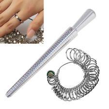 Metal Ring Sizer Mandrel Finger Sizing Measure Stick Standard Tool + Ring Kit US