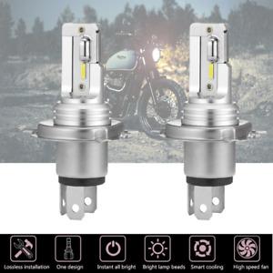 2* H4 9003 COB LED Headlight Bulb Kit Motorcycle Headlight High Low Beam 6500K