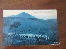 "VINTAGE POSTCARD, THE VIEW OF FLOCK OF SHEEP  MT. TAKAIWA ,   MT UNZEN "" ."